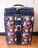 Fashion girls color flower design urban PU leather travel trolley bag
