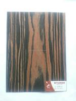 crown cut abachi wood veneer reconstructed fineline ebony veneer