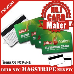 Low price top sell inkjet print pvc magnetic stripe cards