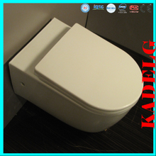 cuarto de baño europea lento suave hacia abajo la cubierta inodoro mochila