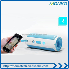 Wholesale alibaba Cyclilng Music 4000mAh power bank Bluetooth Speaker with Sky Blue and Dark Gray