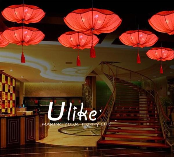 Popular indoor lamp lanterm lotus lamp lantern pattern for Indoor stage decoration