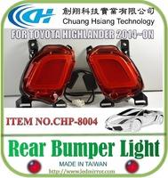 New car style LED strip light reflector Rear Bumper For Toyota Highlander