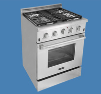 30 inch free standing gas range cooker oven with 4 burner and grill top