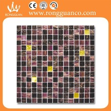 glass and gold mixture style tile
