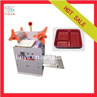 High efficiency semi automatic food tray sealer