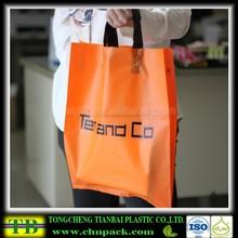 OEM Loop Handle Bag Custom Printed Soft Loop Handle Plastic Carrier