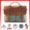 Leather Laptop Tote Bag Vintage Canvas Business Messenger Bag Briefcase (ESX-LB100)