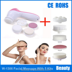 New Arrival 5 In 1 Face Massager Rotating Electric Facial Cleansing Brush