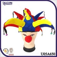 sombrero para fiesta de Halloween para adultos y niños sombrero payaso