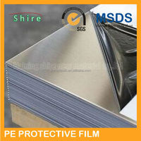 pe stainless steel plate protective film/adhesive plastic film for stainless steel plate