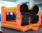 Associação inflável alaranjada da bola da ligação em ponte dos leões-de-chácara de Mickey para o parque de diversões,mini salto