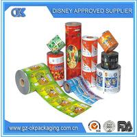food packaging plastic roll film/food grade plastic film roll/plastic film roll