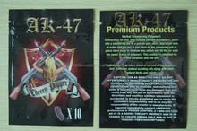 Mylar AK-47 cherry popper 10g herbal incense/tobacco aluminum foil ziplock bags in stock hot sale