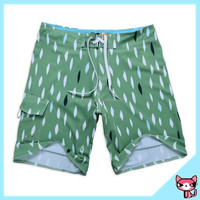 New fashion green crazy board shorts