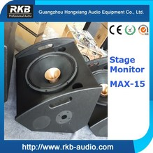 """MAX-15 Professional 15"""" stage monitor/Wedge speaker/coaxial speaker"""