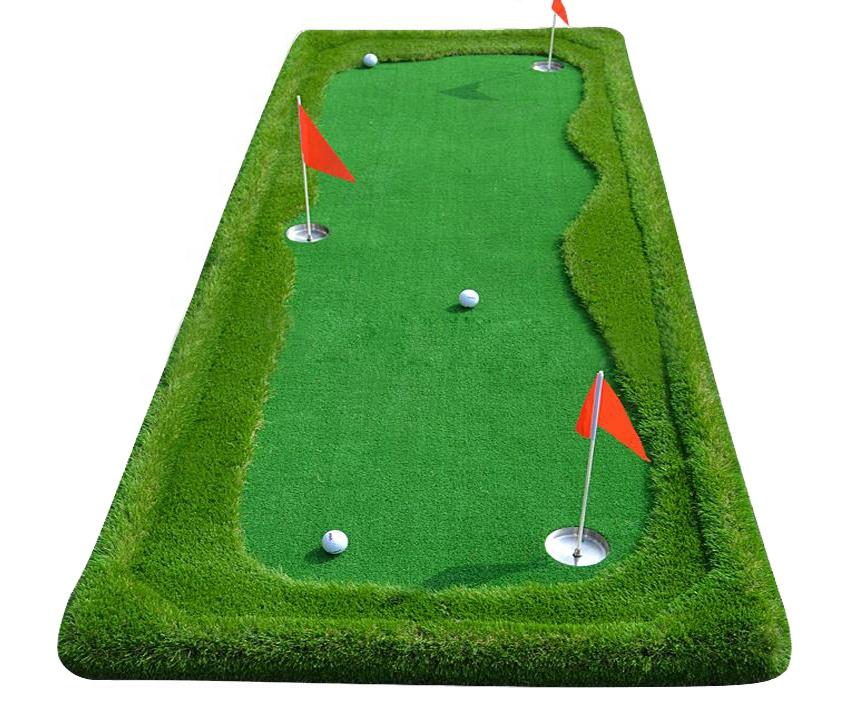 Gazon synthétique artificiel gazon intérieur utilisé golf putting green tapis de golf putter de golf tapis