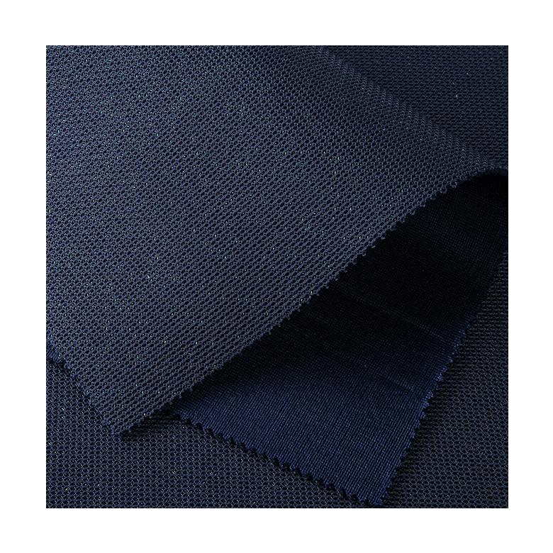 De moda de colores de hilo brillante sándwich 3d aire negro de tela de malla con brillo