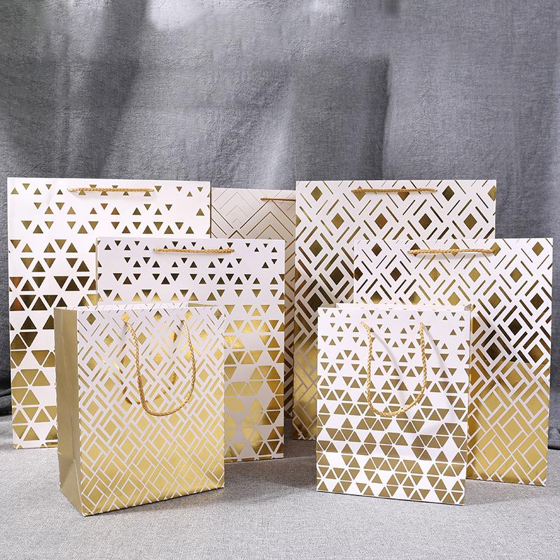 Bolsas de lujo con su propio logotipo de vino de embalaje regalo marca famosa bolsa de papel