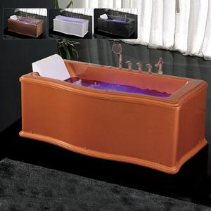 Foshan baño suministros de un solo asiento pintura de acrílico marrón bañera nuevo modelo