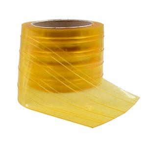 Китай Поставщик Пользовательские инсектированные Ясно желтый пластик ролл ПВХ двери Газа занавес