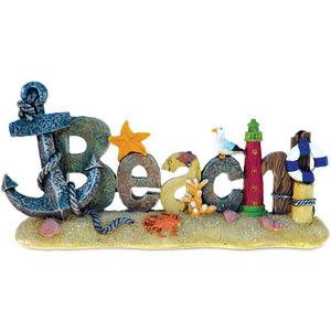 Resina de arte brisa del océano figura tema decoración hecha a mano pintado a mano Atlántico acento salón cocina decoración