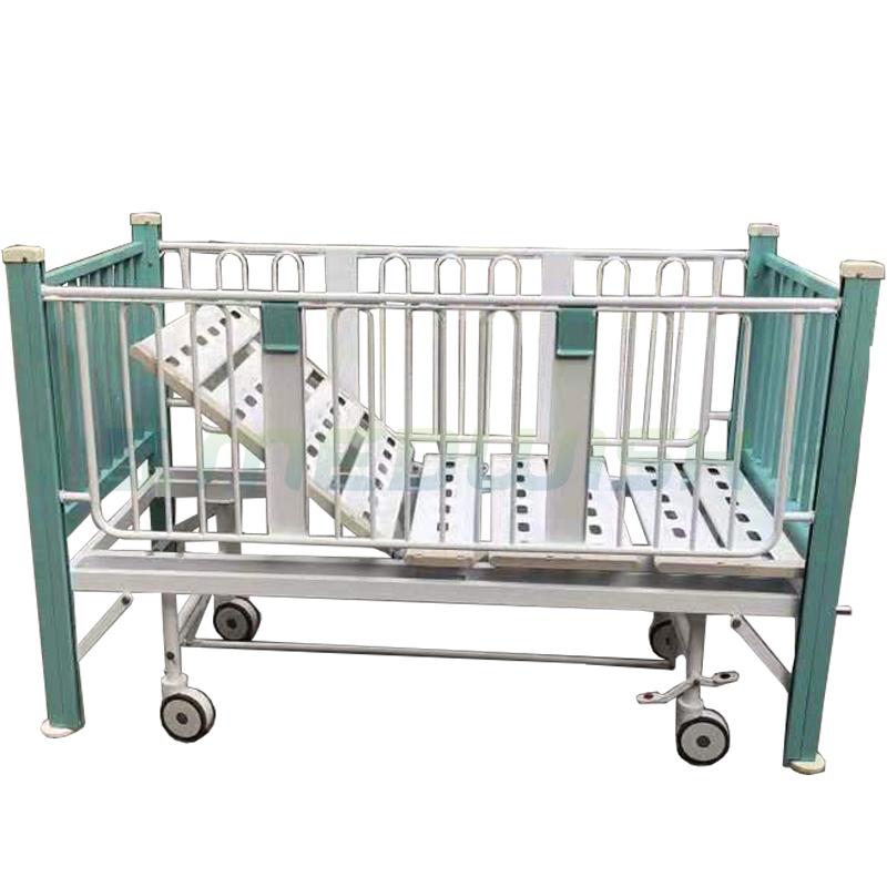 Commercio all'ingrosso di prezzi di fabbrica di metallo regolabile medical hospital di garantire la sicurezza pediatrica letto