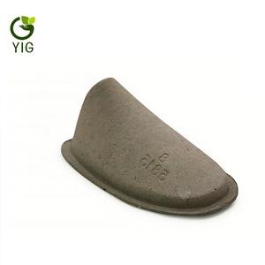 Couleur naturelle personnalisé recyclé moulé par pulpe de carton chaussure inserts