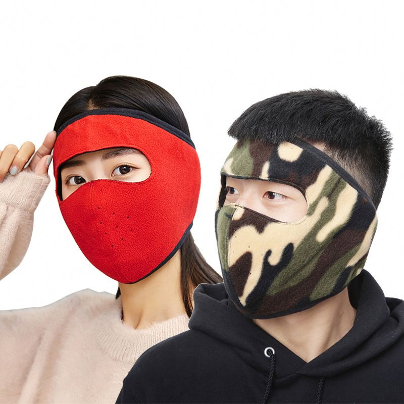 [both men and women] autumn and winter cycling mask heating thickened mask earmuffs integrated ear-protecting warm mask