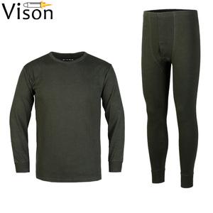 camisa de manga larga traje térmico Ropa interior militar del ejército Ropa interior verde gris militar Ropa interior térmica