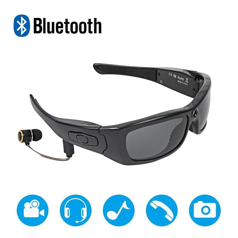 Nuevo diseño DVR gafas de sol 1080P espía inalámbrica Bluetooth mini cámara