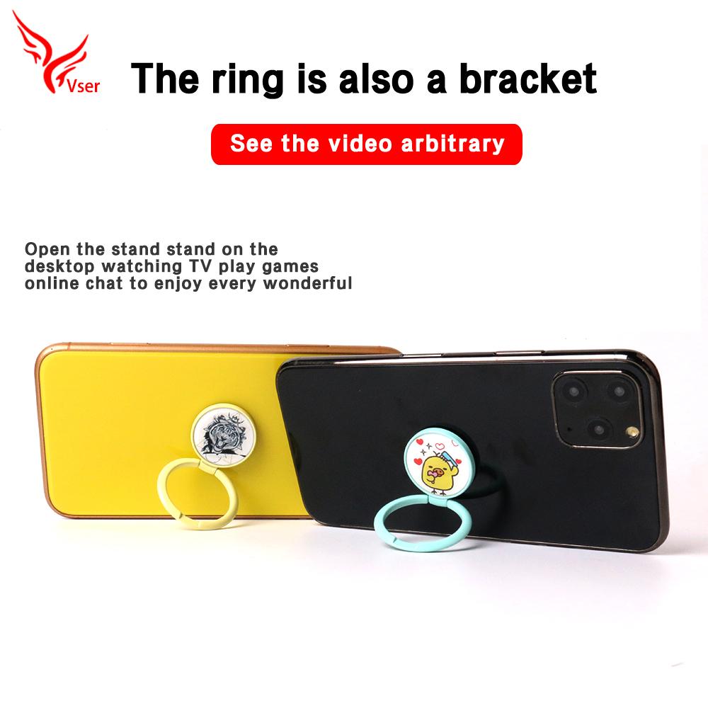 Aleación de zinc Patrón de acrílico personalizado soporte para teléfono celular soporte para anillo de agarre de dedo para teléf