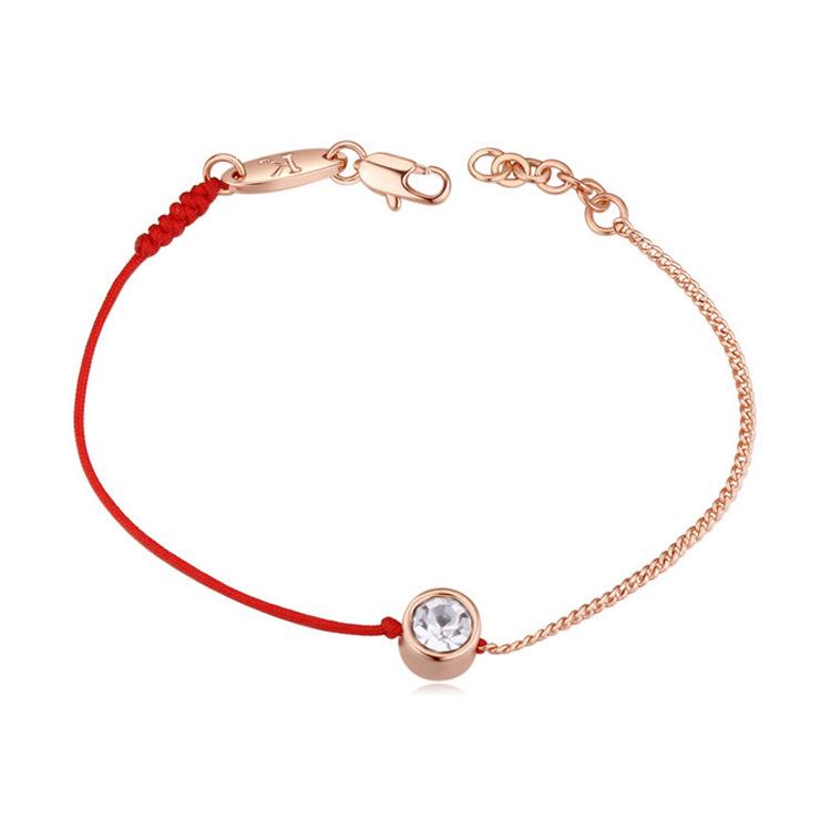 CLARMER Fio de Corda corda Vermelha Sorte Pulseira Pedra Homens de Cristal Do Grânulo Charm Bracelet Para As Mulheres