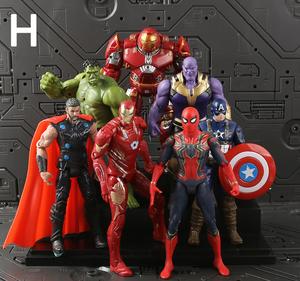 2020 7 adet/takım yeni çin elektrikli oyuncak amerikan kahraman aksiyon figürü çocuklar için