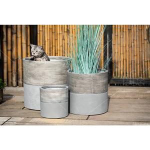 Moderne Dekoration Pflanzer Große Innen Beton Blumentopf Zement Runde Abdeckung