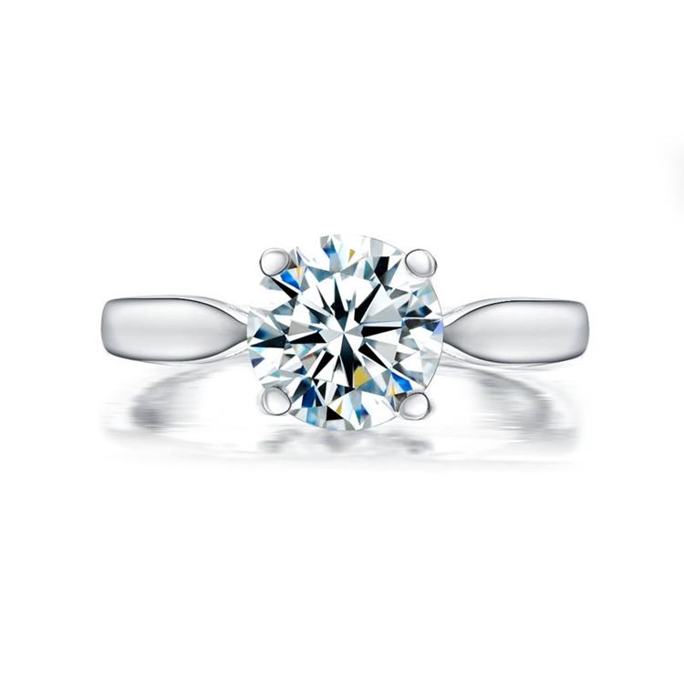 XJ-09 Mode Neueste Hochzeit Ring Designs frauen Fingerringe Fotos 2 Karat Diamant Liebe Ring Preis