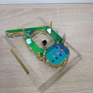 Großhandel Islamische Heilige Moschee Kristall Makkah & Clock Tower Modell Souvenir Mekka Modell Geschenke