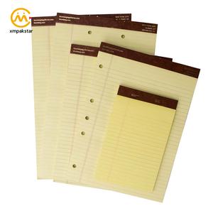 Elegante personalizar estándar amarillo legal Bloc de notas de la escritura para oficina