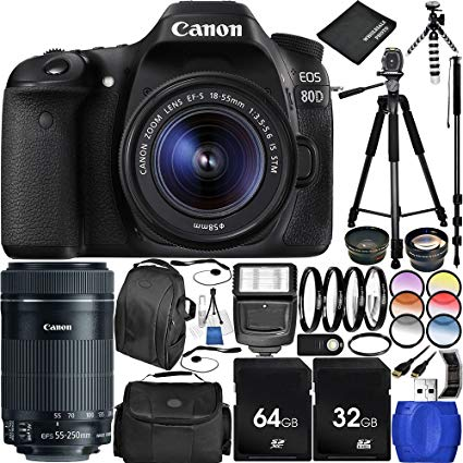 wholesale for Canon EOS 80D Digital SLR Camera + 18-55mm f/3.5-5.6 IS STM Lens