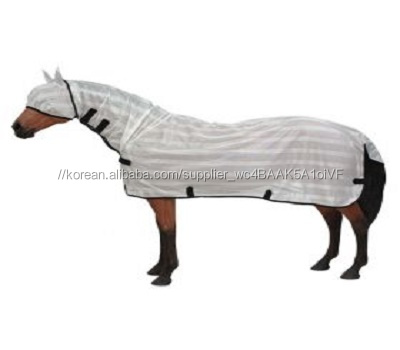 high quality Horse Fly Mesh Sheet with Hood Breathable Summer Horse Rug