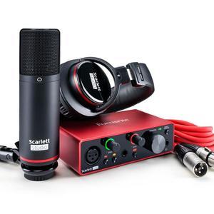 حار جديد Focusrites سكارتس 2i2 ستوديو 2nd الجنرال USB جهاز التحكم في الصوت وتسجيل حزمة مع برو أدوات