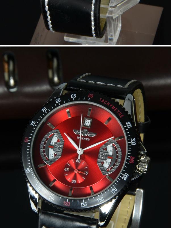 relógio vermelho winner