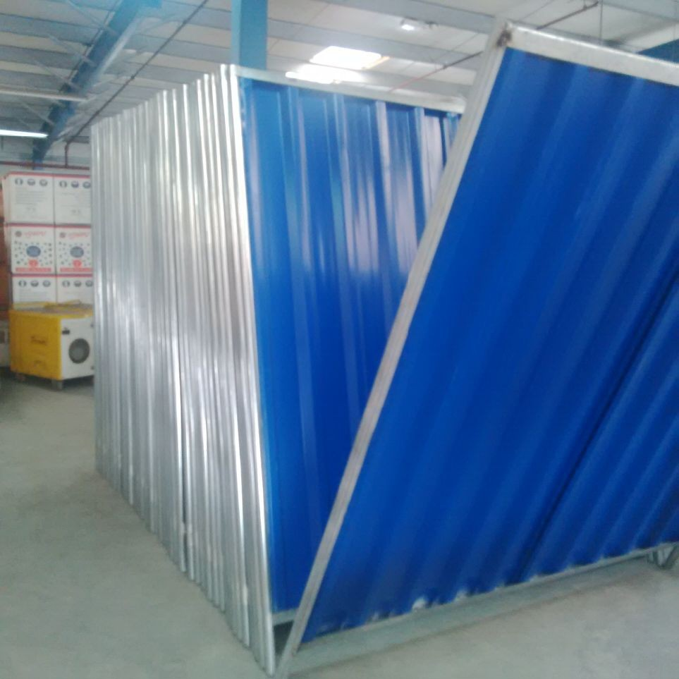 Perimeter Corrugated Profile Sheet Hoarding Temporary