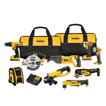 NEW Dewalt 20 Volt 20-v Max Lithium Ion Cordless ComboS Kits(9-Tool) Drilling Kits .
