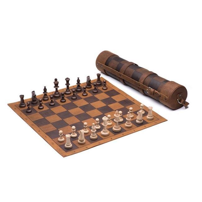 체스 Set Game-Folding 나무 체스 Game 12X12 inches Board Set 와 나무 개