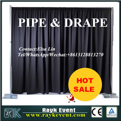 Custom pipe and drape kits pipe & drape road case stage backdrop for sale