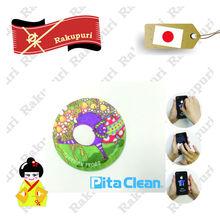 Microfiber Screen Mobile Phone Sticker Popular Item for iphone 6 LCD Adhesive Microfiber Screen Cleaner