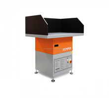 Combination of extraction unit and welding table for manual welding and cutting applications