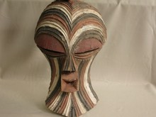 Old african tribal art kifwebe mask-SONGYE-DR CONGO
