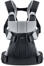 Baby Bjorn Infant Child Carrier One Front & Back Carry Black Silver